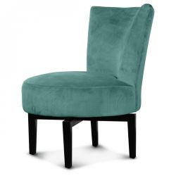 Birkin Swivel Chair Velvet | Thyme Green