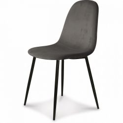 Chaise Josef Velours | Anthracite