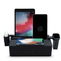 Qi-Wireless Ladestation + Zubehörsatz Apple | Schwarz