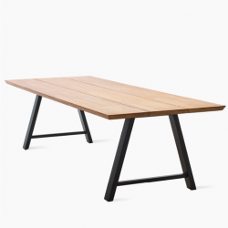 Outdoor Dining Table Matteo | Teak / Black