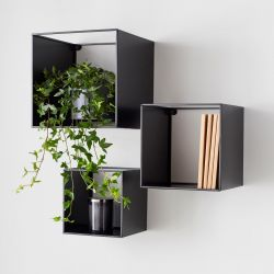 Wall Shelves Set of 3 | Black