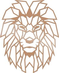 Wall Decoration Lion | Copper