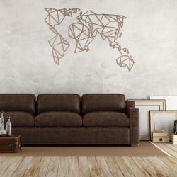 Wanddekoration Weltkarte | Kupfer