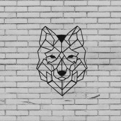 Wanddekoration Wolf