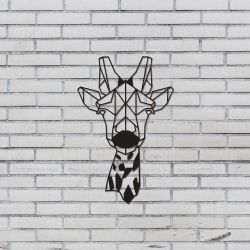 Wall Decoration Giraffe | Black