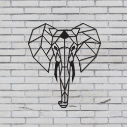 Wall Decoration Elephant | Black