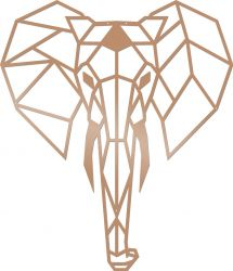 Wall Decoration Elephant | Copper