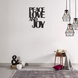 "Wall Decoration ""Peace Love And Joy"""