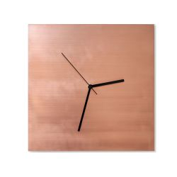 Wall Clock Cube | Copper