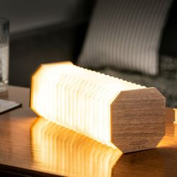 Slimme Accordeon Lamp | Walnoot