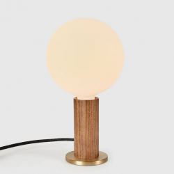 Table Lamp Knuckle with Sphere XL Bulb | Walnut