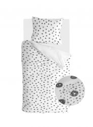 Bettbezug Silver Spots | Weiß