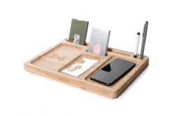 Wireless Charger Walter Dock Bamboo Double