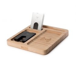 Wireless Charger Walter Dock Bamboo Single