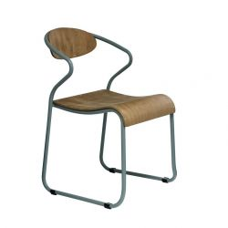 Chair with Armrest Walter | Blue