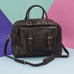 Leather Travel Bag Wandering Soul | Dark Brown