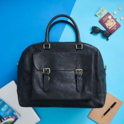 Leather Travel Bag Wandering Soul | Black