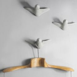 Wall Hooks 3 Birds | Grey