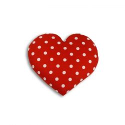 Coussin Chauffant Coeur Large | Polkadot Rouge