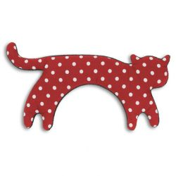 Warming Pillow Minina Cat Large | Polkadot Red