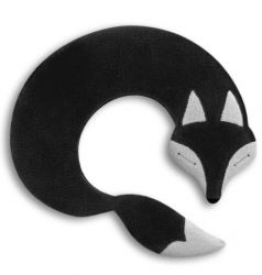 Warming Pillow Noah the Fox | Black