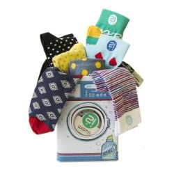 Unisex Socks Set of 20 | Washing Machine Gift Box