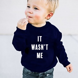 Kids Sweater It Wasn't Me | Blauw