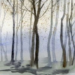 Behangpapier Watercolour Forest | Dag