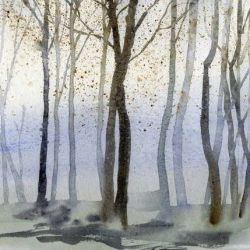 Tapete Aquarell Wald | Tag
