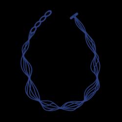 Ketting Waves | Blauw