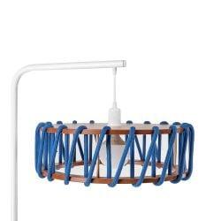 Stehleuchte Macaron Weiß 45 cm | Blau