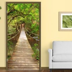 Wall Sticker Door 90 x 210 cm | Jungle Catwalk Style