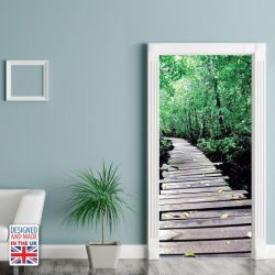 Wall Sticker Door 90 x 200 cm | Wooden Path