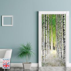 Wall Sticker Door 90 x 200 cm | Birch Pillars