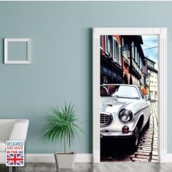 Wall Sticker Door 90 x 200 cm | Vintage Car
