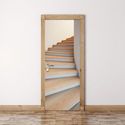 Wall Sticker Door - 2 Sheets | Staircase