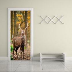 Wall Sticker Door - 2 Pieces of 44 x 200 cm | Deer Door