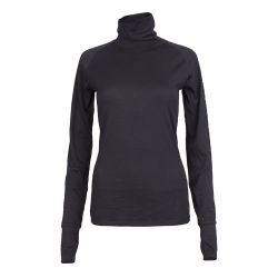Turtleneck Long Merino Cali Top | Black