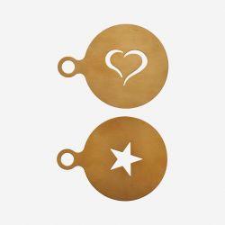 Kaffeeschablone mit Gold | 2er-Set