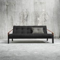 Poesie-Sofabett | Schwarzer Rahmen