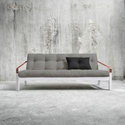 Poesie-Sofabett | Weißer Rahmen