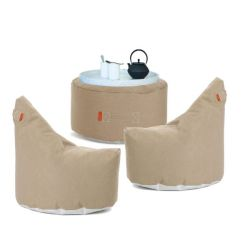 Outdoor-Lounge-Set Wochenendbalkon | Taupe