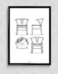 Print | Wegner Y chair