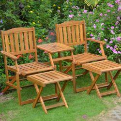 Gartenmöbel-Set WEOD004 | Akazienholz