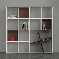 Honey Book Shelf, White & Wenge