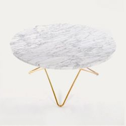O Table | White Marble/Brass