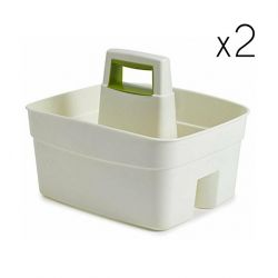 Kitchen Caddy White | Set of 2