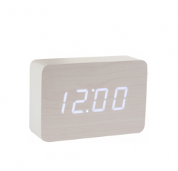 Brick Click Clock | White & White