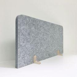 Akustischer Sichtschutz | Grau & Holz