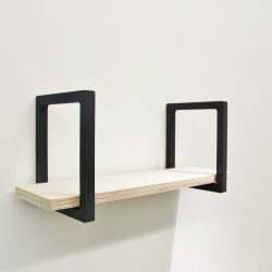 Wall Shelf | Wood & Black